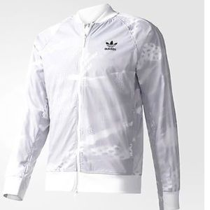 Men's Adidas white track jacket